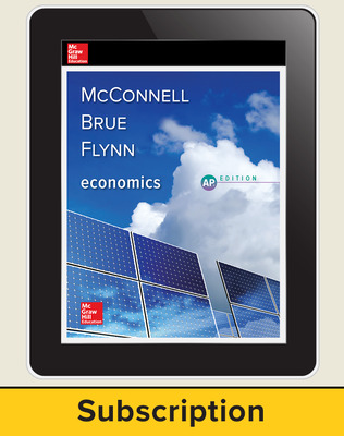 McConnell, Economics, 2018, 21e, Digital Student Subscription, 1-year subscription