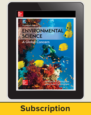 Cunningham, Environmental Science, 2018, 14e (AP Edition) Digital Student Subscription, 6-year subscription