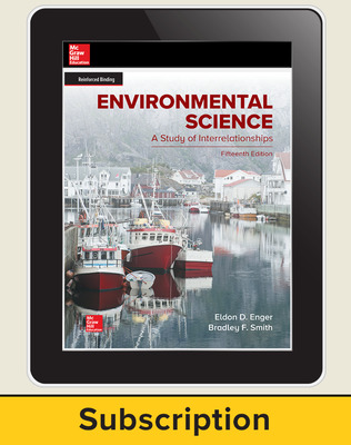 Enger, Environmental Science, 2019, 15e, Online Student Edition, 6-year subscription