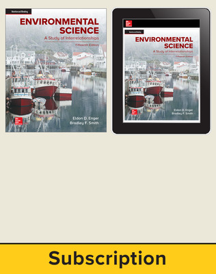 Enger, Environmental Science, 2019, 15e, Student Bundle, 1-year subscription
