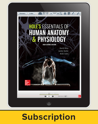 Shier, Hole's Essentials of Human Anatomy and Physiology, High School Ed, 2018, 1e, ConnectED eBook 1-year subscription