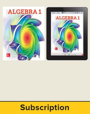 Glencoe Algebra 1 2018, Student Bundle (1 YR Print + 1 YR Digital), 1-year subscription