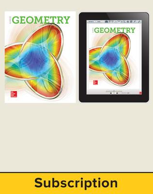 Glencoe Geometry 2018, Student Bundle (1 YR Print + 6 YR Digital), 6-year subscription