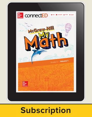 McGraw-Hill My Math, Student Center 6 Year Subscription Grade 3