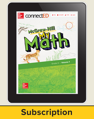 McGraw-Hill My Math, Student Center 6 Year Subscription Grade 4