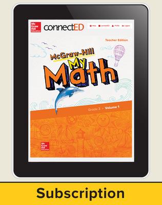 McGraw-Hill My Math, Teacher Center 6 Year Subscription Grade 3