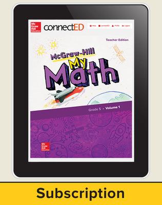 McGraw-Hill My Math, Teacher Center 6 Year Subscription Grade 5