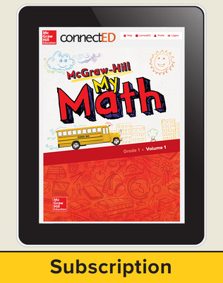 McGraw-Hill My Math, Student Center 1 Year Subscription Grade 1