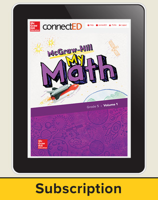 McGraw-Hill My Math, Student Center 1 Year Subscription Grade 5