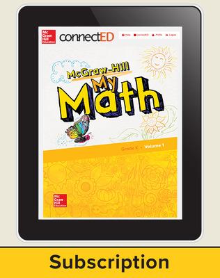 McGraw-Hill My Math, Student Center 1 Year Subscription Grade K