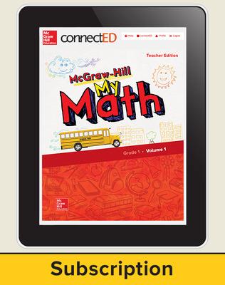 McGraw-Hill My Math, Teacher Center 1 Year Subscription Grade 1