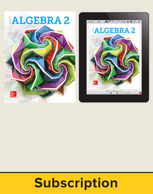 Glencoe Algebra 2 2018, Student Bundle (1-1), 1-year subscription