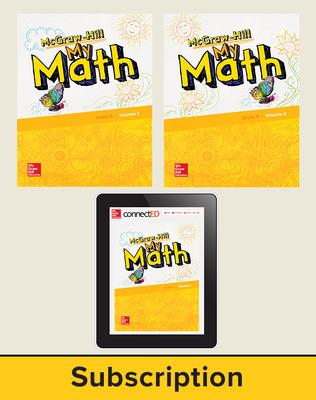 McGraw-Hill My Math 2018 1-year Student Bundle, Grade K