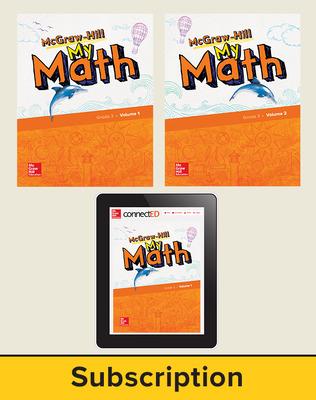 McGraw-Hill My Math 2018 1-year Student Bundle, Grade 3