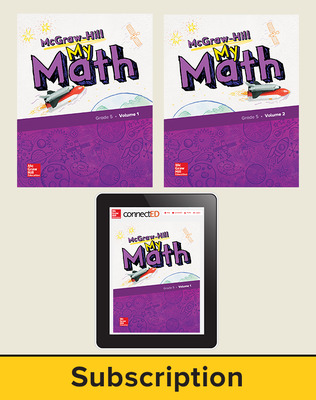McGraw-Hill My Math 2018 1-year Student Bundle, Grade 5