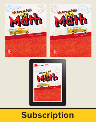 McGraw-Hill My Math 2018 6-year Student Bundle, Grade 1