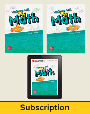 McGraw-Hill My Math 2018 6-year Student Bundle, Grade 2