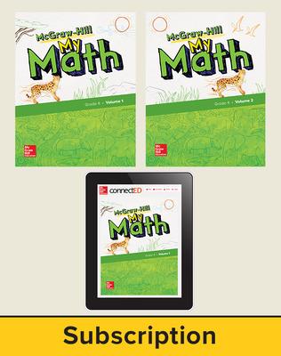 McGraw-Hill My Math 2018 6-year Student Bundle, Grade 4