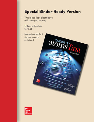 Combo: Loose Leaf Chemistry - Atoms First with Connect Access Card
