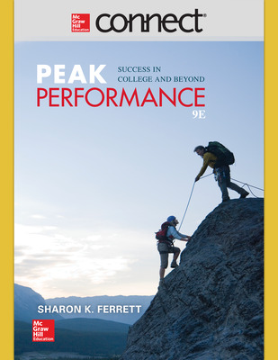 Connect Online Access for Peak Performance: Success in College and Beyond