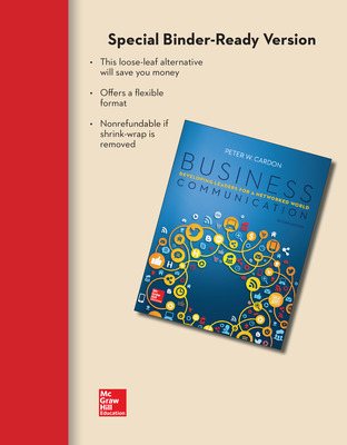 Loose Leaf for Business Communication:  Developing Leaders for a Networked World