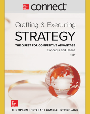 Connect 1 Semester Online Access for Crafting & Executing Strategy: Concepts and Cases