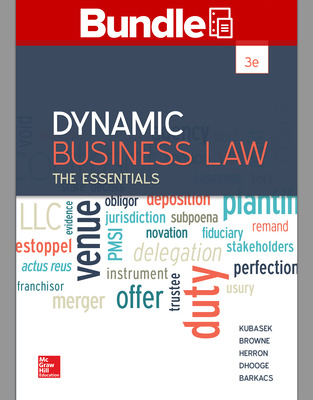 Loose Leaf for Dynamic Business Law and Connect Access Card