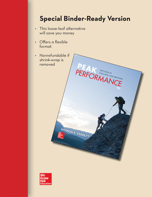 Loose Leaf for Peak Performance: Success in College and Beyond