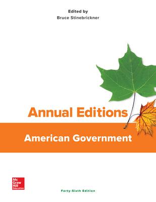 Annual Editions: American Government, 46/e