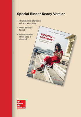 Window on Humanity Loose Leaf Edition: A Concise Introduction to General Anthropology