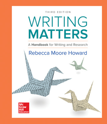 Writing Matters: A Handbook for Writing and Research (Comprehensive Edition with Exercises)