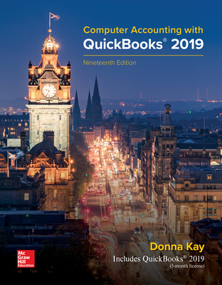 Computer Accounting with QuickBooks 2019