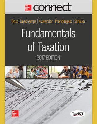 Connect Online Access for Fundamentals of Taxation 2017 Ed, 10e
