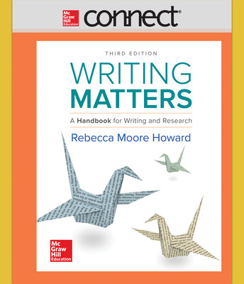 Connect Composition Online Access for Writing Matters 3e Comprehensive