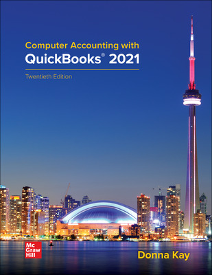 Computer Accounting with QuickBooks 2021
