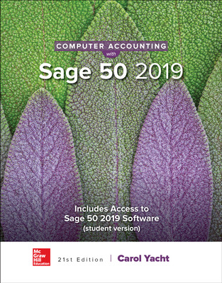 Computer Accounting with Sage 50 2019