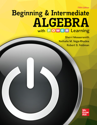Section Worksheets Online for Beginning and Intermediate Algebra with P.O.W.E.R. Learning