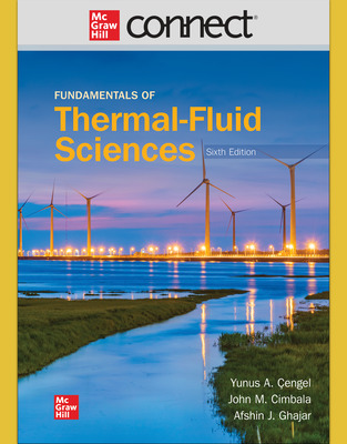 Connect 1 Semester Online Access for Fundamentals of Thermal-Fluid Sciences