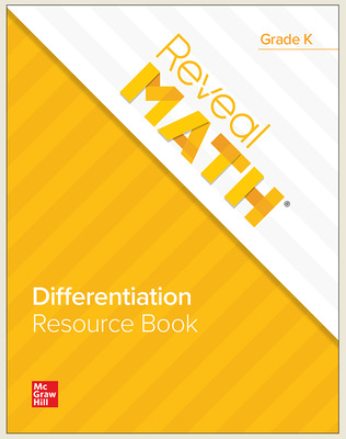 Reveal Math Differentiation Resource Book, Grade K