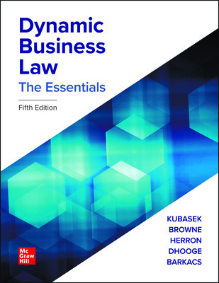 MHE High School Dynamic Business Law: The Essentials