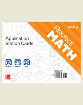 Reveal Math Application Station Cards, Grade 3