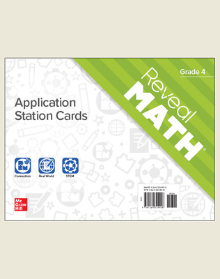 Reveal Math Application Station Cards, Grade 4