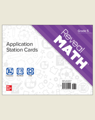 Reveal Math Application Station Cards, Grade 5