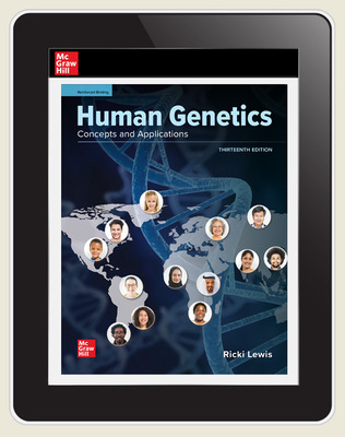 Lewis, Human Genetics, 2021, 13e, Online Student Edition, 1 yr subscription