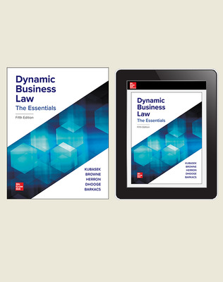 CUS Dynamic Business Law, The Essentials, Print and Digital Student Bundle, 1-year subscription