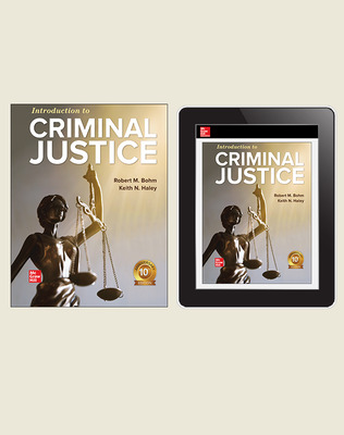 CUS Introduction to Criminal Justice, Print and Digital Student Bundle, 1-year subscription