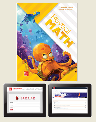 Reveal Math, Grade K, Student Digital Bundle with Redbird and Arrive Math Booster, 6-years