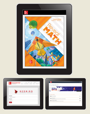 Reveal Math, Grade 3, Student Digital Bundle with Redbird and Arrive Math Booster, 6-years