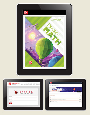 Reveal Math, Grade 4, Student Digital Bundle with Redbird and Arrive Math Booster, 6-years