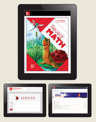 Reveal Math, Grade 1, Student Digital Bundle with Redbird and Arrive Math Booster, 1-year